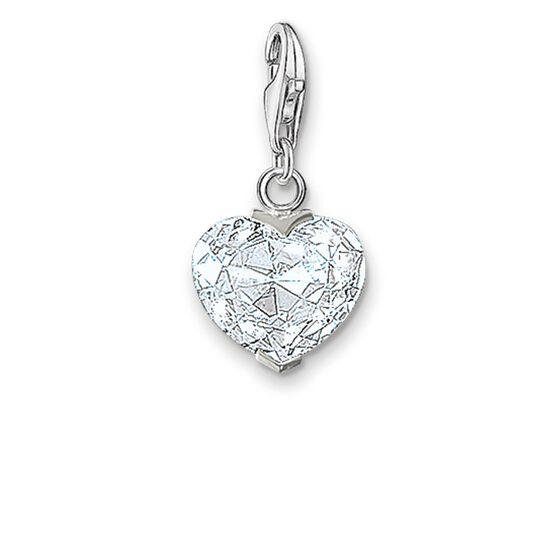 "Charm pendant ""white heart"" from the  collection in the THOMAS SABO online store"