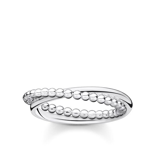 Ring double dots silver from the Charming Collection collection in the THOMAS SABO online store