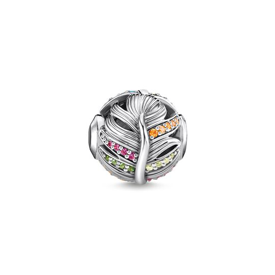 bead feather silver from the Karma Beads collection in the THOMAS SABO online store