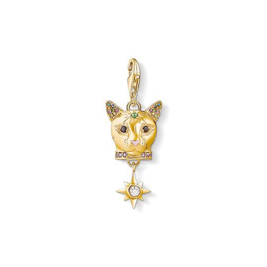 Charm pendant Cat gold from the Charm Club collection in the THOMAS SABO online store