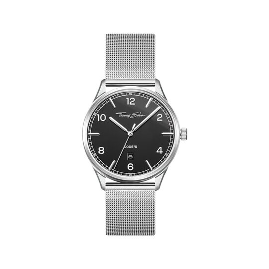 Watch unisex CODE TS silver black from the  collection in the THOMAS SABO online store