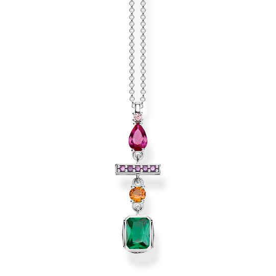 necklace Colourful mix of forms, silver from the Glam & Soul collection in the THOMAS SABO online store