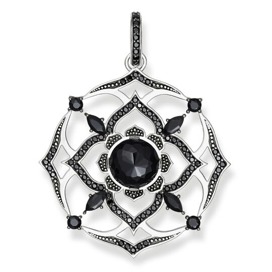 "pendant ""black crown chakra"" from the Chakras collection in the THOMAS SABO online store"