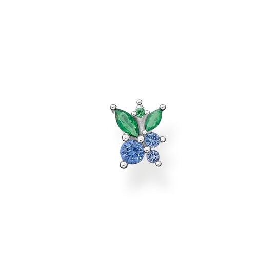 Single ear stud blueberry silver from the Charming Collection collection in the THOMAS SABO online store