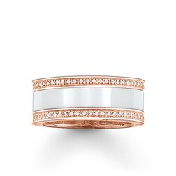 "band ring ""white ceramic pavé"" from the Glam & Soul collection in the THOMAS SABO online store"