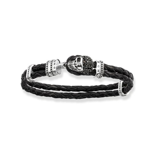 leather bracelet skull from the  collection in the THOMAS SABO online store