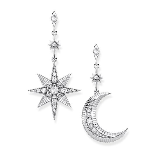 "earrings ""Royalty Star & Moon"" from the  collection in the THOMAS SABO online store"