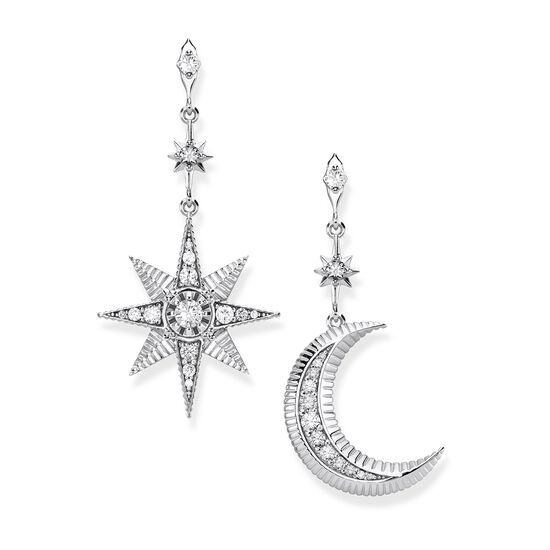 TS Star & Moon Earrings Silver