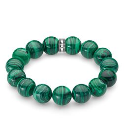 "bracelet ""Power Bracelet green"" from the Rebel at heart collection in the THOMAS SABO online store"