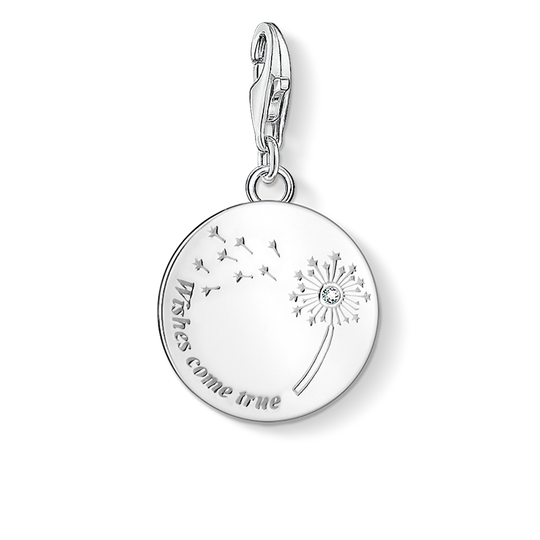 Charm pendant dandelion WISHES COME TRUE from the Charm Club collection in the THOMAS SABO online store