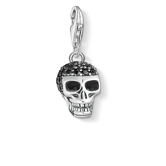 Charm pendant skull pav 1547 charm club thomas sabo singapore charm pendant quotskull paveacutequot from the collection in the thomas sabo mozeypictures Image collections