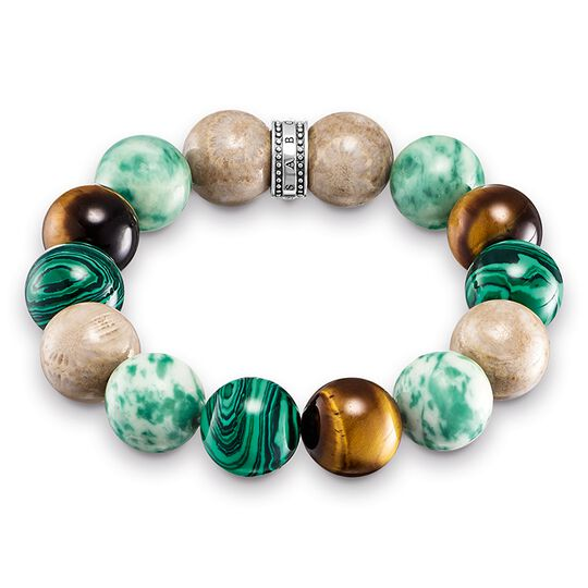 Power Bracelet brown, green from the Rebel at heart collection in the THOMAS SABO online store
