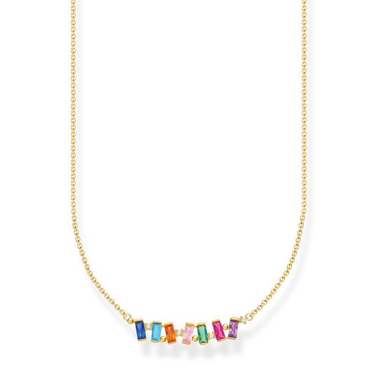 Necklace colourful stones, gold from the Charming Collection collection in the THOMAS SABO online store