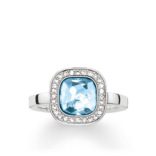 """solitaire ring """"light-blue Cosmo"""" from the Glam & Soul collection in the THOMAS SABO online store"""