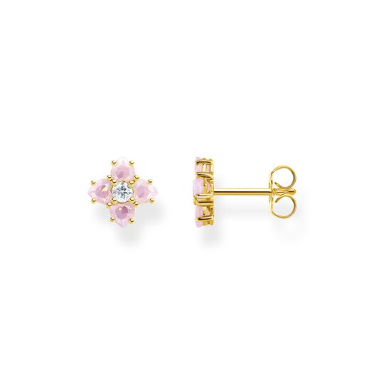 Ear studs flower colourful stones gold from the  collection in the THOMAS SABO online store