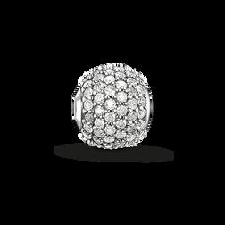 Bead diamant blanc avec pavé de la collection Karma Beads dans la boutique en ligne de THOMAS SABO