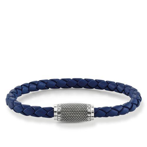 """brazalete de cuero """"Kathmandu azul"""" de la colección Rebel at heart en la tienda online de THOMAS SABO"""