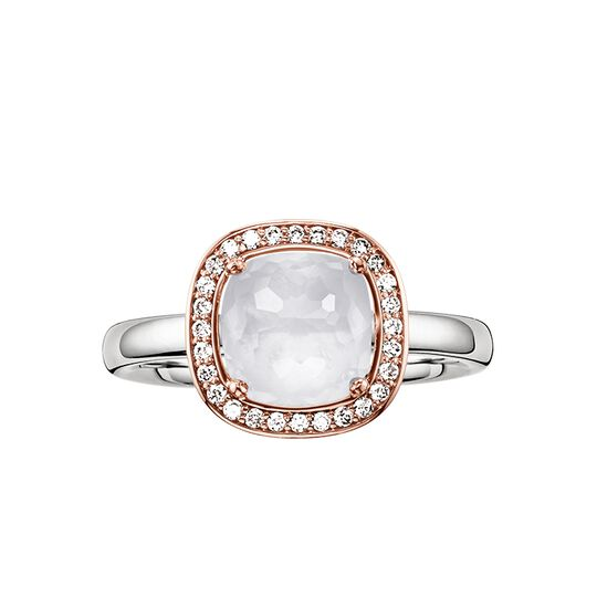 """solitaire ring """"white"""" from the Glam & Soul collection in the THOMAS SABO online store"""