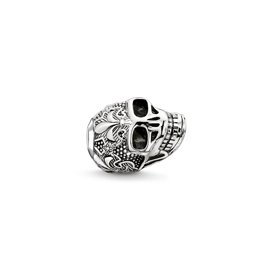 Bead skull with lily from the Karma Beads collection in the THOMAS SABO online store