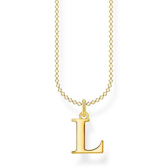 Necklace letter L gold from the Charming Collection collection in the THOMAS SABO online store