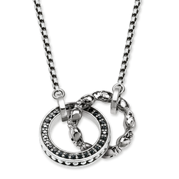 "Collier ""Totenkopf Pavé""  aus der Rebel at heart Kollektion im Online Shop von THOMAS SABO"