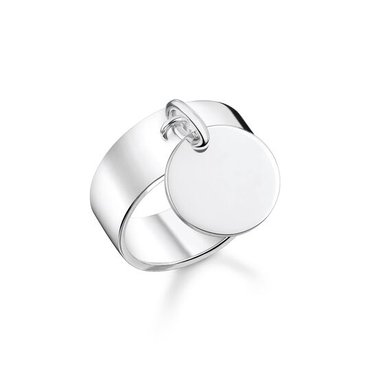 Ring with disc silver from the  collection in the THOMAS SABO online store
