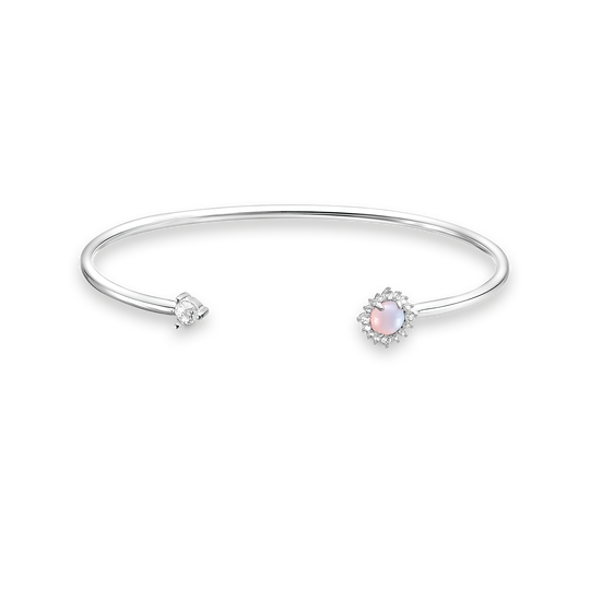 Bangle arrow Opal-Imitation shimmering pink from the Charming Collection collection in the THOMAS SABO online store