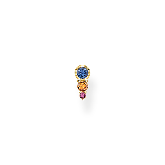 Single ear stud Colourful stones, gold from the Charming Collection collection in the THOMAS SABO online store