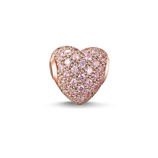 "Bead ""hot pink pavé heart"" from the Karma Beads collection in the THOMAS SABO online store"