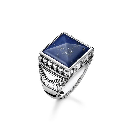 ring ethno skulls blue from the  collection in the THOMAS SABO online store