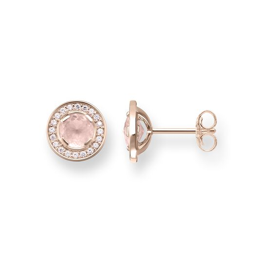 "orecchini a lobo ""Light of Luna rosa"" from the Glam & Soul collection in the THOMAS SABO online store"