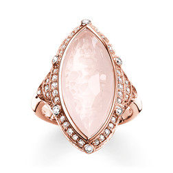 "anello cocktail ""loto rosa"" from the Glam & Soul collection in the THOMAS SABO online store"
