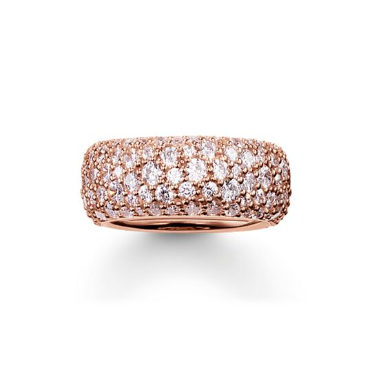 band ring crushed pavé from the  collection in the THOMAS SABO online store