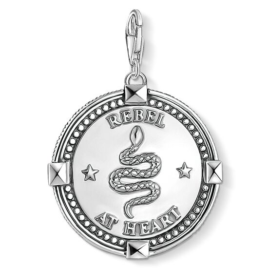 "Charm pendant ""disc skull"" from the  collection in the THOMAS SABO online store"