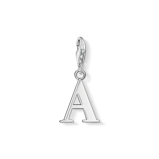 Charm pendant letter A from the Charm Club collection in the THOMAS SABO online store