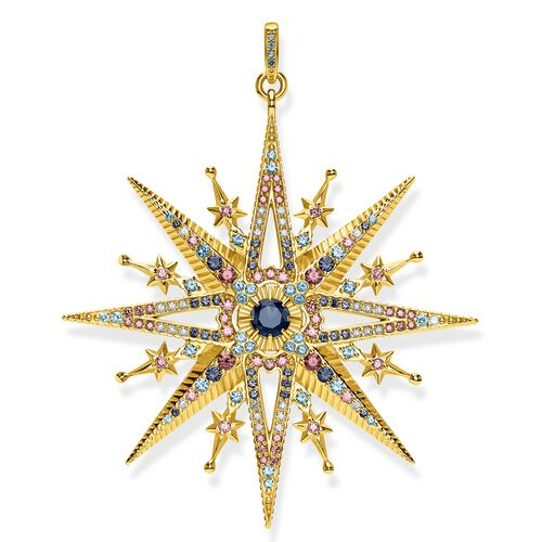 """pendant """"Royalty Star gold"""" from the Glam & Soul collection in the THOMAS SABO online store"""