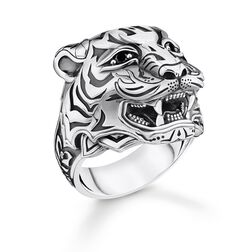 ring tiger silver from the Rebel at heart collection in the THOMAS SABO online store