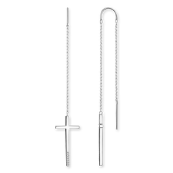 "earrings ""cross"" from the Glam & Soul collection in the THOMAS SABO online store"