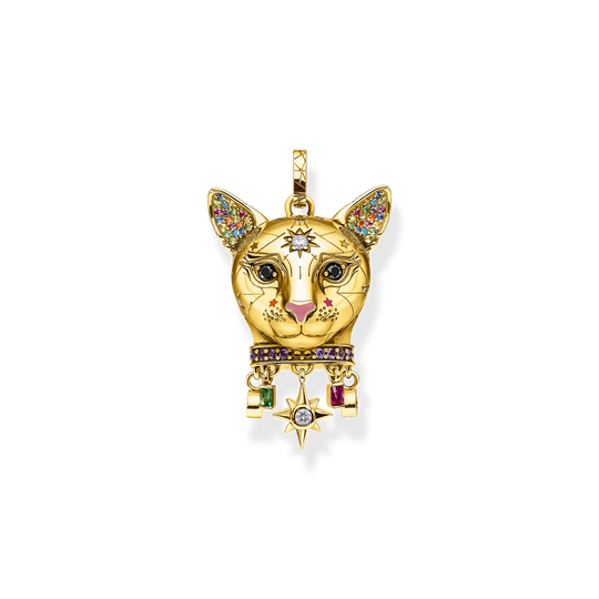 pendant Cat gold from the Glam & Soul collection in the THOMAS SABO online store