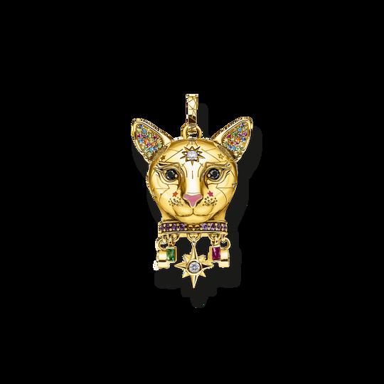 Anhänger Katze gold aus der Glam & Soul Kollektion im Online Shop von THOMAS SABO