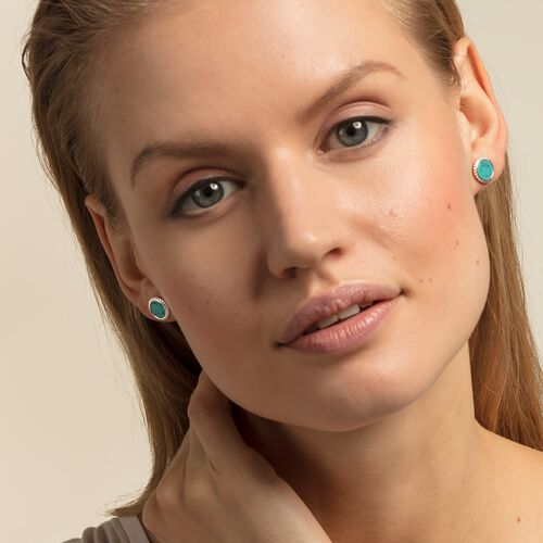 "ear studs ""turquoise"" from the Glam & Soul collection in the THOMAS SABO online store"