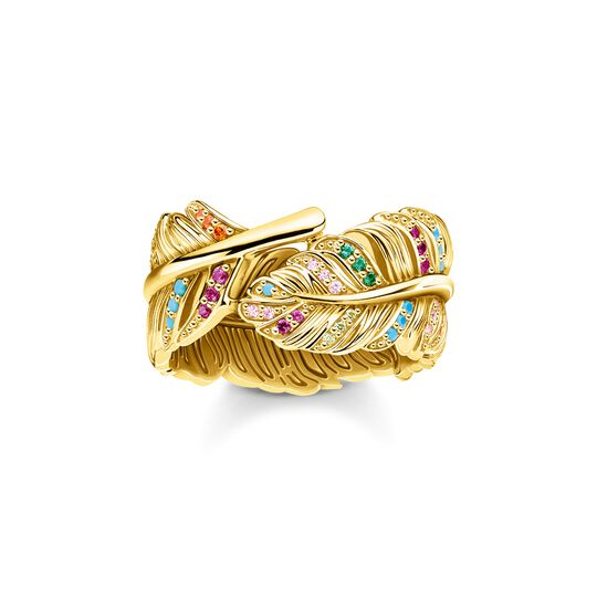 ring feather gold from the  collection in the THOMAS SABO online store