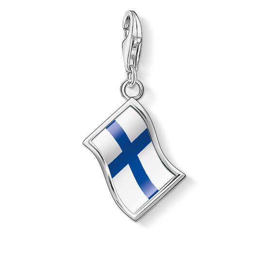 Charm pendant flag Finland from the  collection in the THOMAS SABO online store