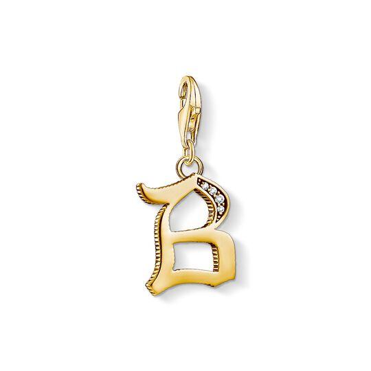 Charm-Anhänger Buchstabe B gold aus der Charm Club Kollektion im Online Shop von THOMAS SABO