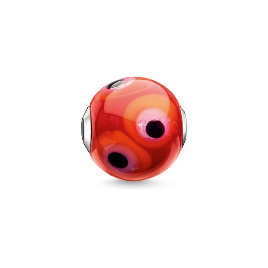 Bead Glass Bead Red, Black, Hot Pink, Orange from the Karma Beads collection in the THOMAS SABO online store