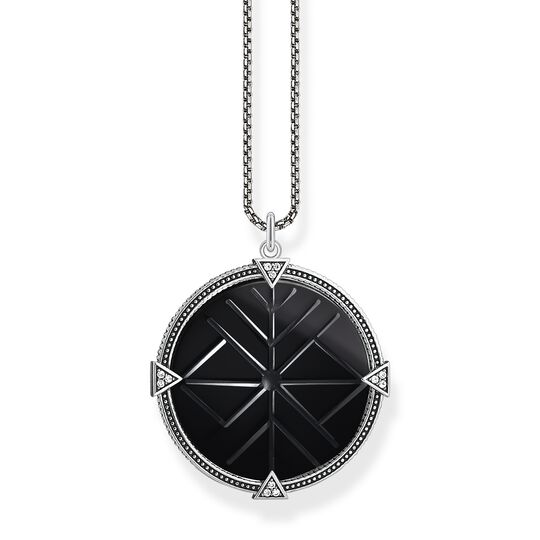 Necklace vintage coin black from the  collection in the THOMAS SABO online store