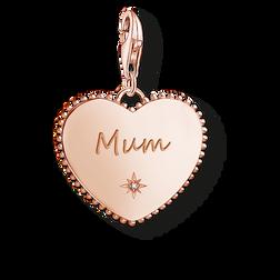 pendentif Charm cœur Mum or rose de la collection  dans la boutique en ligne de THOMAS SABO
