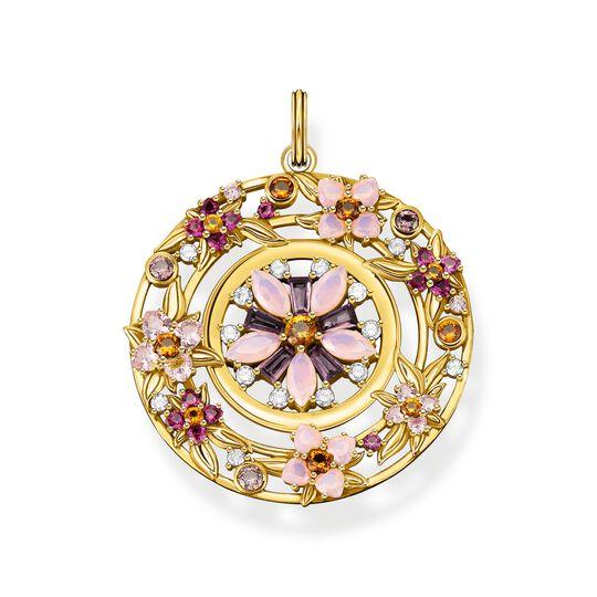 Anhänger Amulett Blumen farbige Steine gold aus der  Kollektion im Online Shop von THOMAS SABO