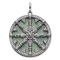 """pendant """"Karma Wheel with aventurine disc"""" from the Karma Beads collection in the THOMAS SABO online store"""
