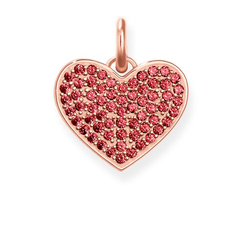"pendant ""Heart Red Pavé"" from the Love Bridge collection in the THOMAS SABO online store"